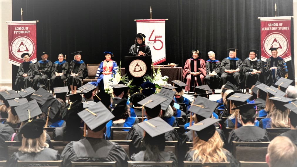 Fielding graduates at commencement